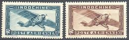 PMo - Indochine 1949 PA N° 48/49** (cote29.00) - Airmail