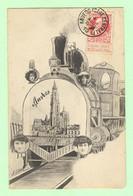 S148 - BELGIQUE - Anvers - Train Et Portraits De Femmes Par Xavier SAGER - Locomotive - Sager, Xavier