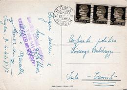 Posta Periodo Militare-Confinato Politico Alle Isole Tremiti-Timbro Della Direzione-Spedito Il 9-4-1941- - Publicidad