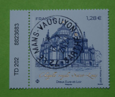 FRANCE 2021   CHASSE ROYALE  ST LOUIS  DREUX (Eure Et Loir)   Timbre Neuf  CACHET ROND  NUMEROTE - Used Stamps