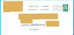 NOUVELLE Marque De Tri BP [20213] Sur Marianne L'engagée Lettre Verte Toshiba - Mechanische Stempels (varia)