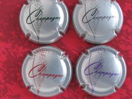 Série De 4 Capsules De Champagne Générique N° 757d à 757 G - Otros
