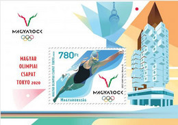 HUNGARY, 2021, MNH,OLYMPICS, TOKYO OLYMPICS, SWIMMING, S/SHEET - Sommer 2020: Tokio