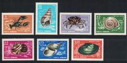 Romania Crustaceans And Molluscs 7v 1966 MNH SG#3412-3419 MI#2544-2551 CV€9.- - Ongebruikt