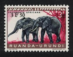 Ruanda-Urundi Elephants Ovpt 1961 MNH MI#182 - 1948-61: Mint/hinged