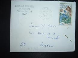 LETTRE TP YT 1578 MORT DE DU GUESCLIN 0,40 OBL.2-7 1969 24 CHENAUD DORDOGNE - 1961-....