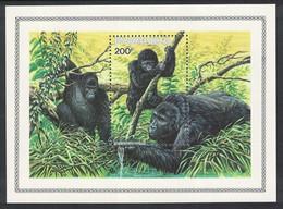 Rwanda WWF Mountain Gorilla MS 1985 MNH SG#MS1223 MI#Block 103A SC#1212 CV£16.- - 1980-89: Mint/hinged