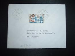 LETTRE TP YT 1671 LA POSTE AUX ARMEES JOURNEE DU TIMBRE 0,50+0,10 OBL.24-11 1971 24 CHENAUD DORDOGNE - 1961-....