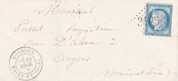N° 60 S / L Sans Texte T.P. Ob GC 3405 + T 18 Gonnord 10 Févr 76.  Ex Bureau De Sierck ( 55 ) Remplaçant Alsace Lorraine - 1849-1876: Classic Period