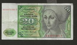 ALLEMAGNE /  Billet De 20 Mark 2 Janvier 1970   Elsbeth Tucher - 20 Deutsche Mark
