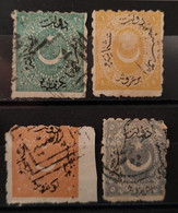TURQUIE - 1871 N° 26/29 O - Grosse Dentelure Irrégulière /impression Défectueuse De Constantinople (voir Scan) - Usati