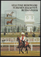 Turkmenistan Akhal-Teke Horse Facing Right Sheet 2005 MNH SG#MS121 CV£17.- - Turkmenistan