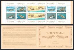 Turkmenistan WWF Caspian Seal 4v Booklet English 1993 MNH SG#32-35 MI#30=34 SC#35-38 CV€23.- - Turkmenistan
