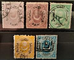 TURQUIE - 1869 N° 19 O - 19a O - 20 O - 21 O - 23 O (voir Scan) - Usati