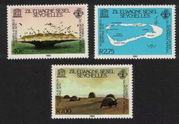 ZES Seychelles Birds Tortoise Aldabra World Heritage Site 3v 1982 MNH SG#42-44 - Seychelles (1976-...)
