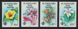 ZES Seychelles Flora Hibiscus Orchids 4v 1986 MNH SG#140-143 - Seychelles (1976-...)