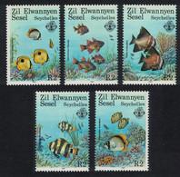 ZES Seychelles Coral Reef Fishes 5v 1987 MNH SG#144-148 CV£5.50 - Seychelles (1976-...)