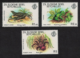 ZES Seychelles Skink Frog Crab Wildlife 3v 1981 MNH SG#32-34 - Seychelles (1976-...)