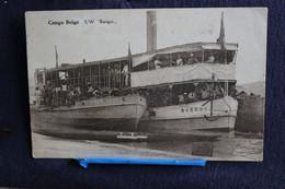 "L 171 -  Congo Belge  S/W "" Bangui "" Bateau Boot  - Circulé - Belgian Congo - Other"