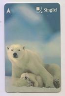 Singapore Old Phonecards Singtel Polar Bear Used - Non Classificati