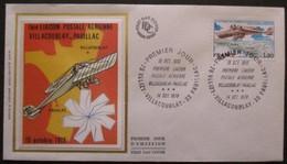 FRANCE FDC 1ère Liaison Villacoublay-Pauillac 14-10-1978 Villacoublay - 1970-1979