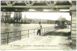 Auxerre. Vue Sur Le Pont Paul Bert Et La Cathedrale. - Auxerre
