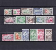 ZANZIBAR 1961, SG# 373-388, CV £42, Architecture, Flora, Sultan Sir Abdullah, MNH - Zanzibar (...-1963)