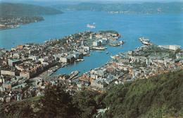 AMORA Prospection - BERGEN (Norvège) Vue Aérienne Timbrée, Oblitérée  1957 ( ͡♥͜ʖ ͡♥) ♥ - Publicité