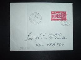 LETTRE TP YT 1598 EUROPA 0,40 OBL.9-3 1970 24 MIALLET DORDOGNE - 1961-....