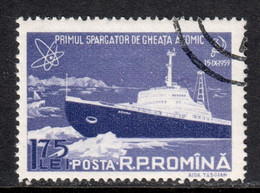 Romania 1959 Mi# 1811 Used - First Atomic Ice-breaker Lenin / Atom - Oblitérés