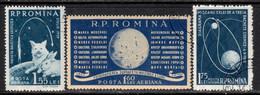 Romania 1959 Mi# 1824-1826 Used - Soviet Conquest Of Space - Oblitérés