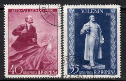 Romania 1960 Mi# 1840-1841 Used - 90th Birth Anniv. Of Lenin - Oblitérés