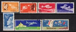 Romania 1960 Mi# 1861-1867 Used - 50th Anniv. Of The First Romanian Airplane Flight By Aurel Vlaicu - Oblitérés