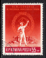 Romania 1960 Mi# 1868 Used - Romanian Workers' Party, 3rd Congress - Oblitérés