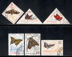 Romania 1960 Mi# 1918-1923 Used - Butterflies - Oblitérés