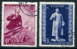 ROMANIA 1960 Lenin Anniversary Used.  Michel 1840-41 - Oblitérés