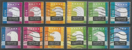 USA 2012/2015 Eagle Presorted - 2x Cpl 6v Set Really Used And Cancelled By USPS - Ruedecillas