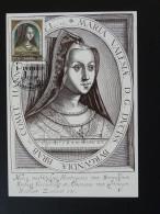 Carte Maximum Card Marie De Bourgogne Burgundy Medieval History Luxembourg 1996 - Cartes Maximum