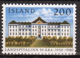 Iceland 1980 Single Stamp Celebrating National Hospital In Unmounted Mint - Ongebruikt
