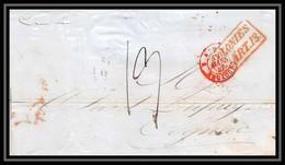 36146 1847 Steamer Cambria New York (usa) Pour Cognac Charente Marque Postale Maritime Cover Schiffspost - Schiffspost