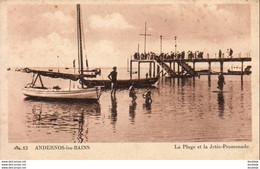 D33  ANDERNOS LES BAINS  La Plage Et La Jetée Promenade - Andernos-les-Bains