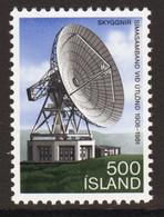 Iceland 1981 Single Stamp Celebrating Satellite Earth Station In Unmounted Mint - Ongebruikt