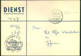 1960, DIENST V.V.P. From HOLLANDIA To Weatherstaion In JEFMAN - Nouvelle Guinée Néerlandaise
