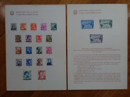 REPUBBLICA - 2 Bollettini Ministeriali: Michelangiolesca E Viaggio Gronchi + Spese Postali - Autres