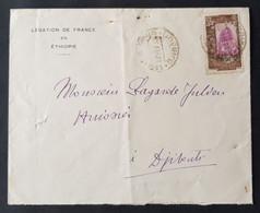 """France Somalis - Timbre(s) Sur Enveloppe """"Légation De France En Ethiopie"""" - 1 Scan(s) TB - 771 NN - Covers & Documents"""