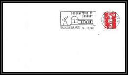 10185/ Espace (space) Lettre (cover) 5/12/1990 Observatoire De Sabanat Daumazan Sur Arize France - Europe