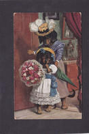 Anthromorphic Dog Card  -   A Thiele. Dogs With Flowers.  1910.  R Tuck, Flowers To The Fair, Series 9798. - Cats
