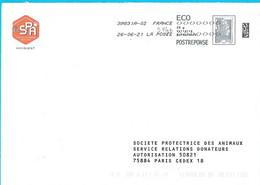 Post Réponse Marianne L'engagée SPA Animaux Protection Toshiba - PAP:  Varia (1995-...)
