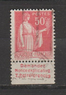 Paix N° 283 Type 2A - Pubblicitari