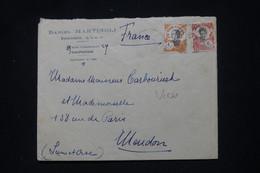 INDOCHINE - Enveloppe Commerciale De Haiphong Pour La France, Voir Cachet De Propagande Au Dos - L 101520 - Storia Postale